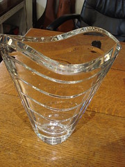 """BACCARAT """"WAVE"""" VASE, LARGE SIZE AT 11.5 INCHES. • <a style=""""font-size:0.8em;"""" href=""""http://www.flickr.com/photos/51721355@N02/35182893122/"""" target=""""_blank"""">View on Flickr</a>"""
