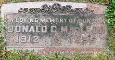 MacLeod, Donald C. 1912 - 1956 (Hear and Their) Tags: fraternal grave stones markers oddfellows masonic mason freemason kingsville ontario greenhill cemetery