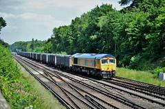 66760 (stavioni) Tags: gbrf diesel rail railway railfreight freight train 66760 david gordon harris class66 shed
