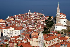 Beautiful Piran (Alan1954) Tags: piran 2016 city holiday buildings churches red slovenia platinumpeaceaward platinumheartaward