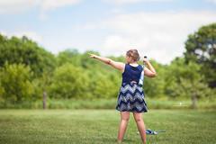 (Rebecca812) Tags: girl child baseball baberuth point bat sports fun game idyllic bluesky bucolic countryside greengrass trees clover childhood portrait canon rebecca812