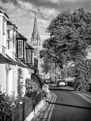 Douglas Row, Inverness (Gordon Nicoll) Tags: steeple church architecture scotland inverness monochrome spire blackwhite