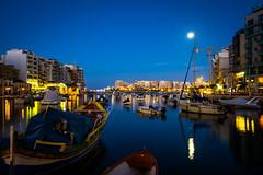 moonlight (Spinola Bay, Malta) (Marser) Tags: xt10 fuji raw lightroom malta spinolabay sea boat moon longexposure nightview マルタ スピノーラ湾 海 月光