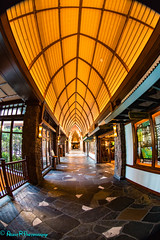 Hall to the Lobby (robertperrin25) Tags: aulani dvc hawaii lobby fisheye
