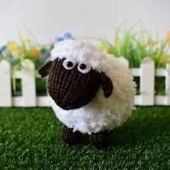Baa-Bara Sheep (Knitting patterns by Amanda Berry) Tags: fluff fuzz amanda berry pattern patterns knit knits knitting knitted knitter knitters boucle sirdar snuggly snowflake acrylic sheep lamb easter toy toys