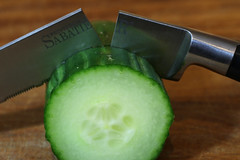 Broken - Macro Mondays (Crisp-13) Tags: broken macromondays macro mondays knife blade snapped kitchen cucumber slice