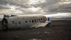 Stranded. (5PR1NK5 Photography • Off The Beaten Track Urban) Tags: abandoned stranded lost plane derelict travel discover find seek iceland dc3 aircraft us navy downed forgotten black sand beach urbex ue landscape portrait selfie crash prop canon photography 5pr1nk5
