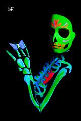 UV Skeleton - butterfly II (n4i.es) Tags: skeleton uv ultraviolet blacklight bodypainting reactivepainting n4i n4iphoto cristinago neithbathory photoshoot canon5dmkii 85mm studio elzulo20 bodypaintinguv smoke redsmoke portrait butterflybodypaintingcristinagoelzulo20esqueletohuesosluznegramakeupnetihbathorypaulapinturareactivasesiónultravioletauvjerezdelafronteracádizspain