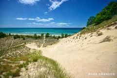 Beautiful Grand Mere Dunes (mswan777) Tags: dune expanse sand beach grass lake michigan stevensville scenic seascape landscape nature outdoor nikon d5100 water waves horizon sky cloud sigma 1020mm