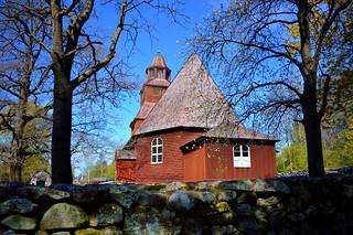 Seglora church. Stockholm. Djurgården. Skansen.