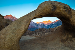 Hunting Alpenglow (The Charliecam) Tags: mount whitney mobius arch california canon6d 24105f4l dawn alpenglow mountains rock desert alabama hills solitude peace morning