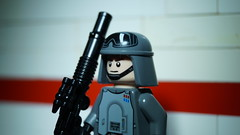 Lego Imperial Officer (Force Movies Productions) Tags: war weapons empire lego helmet helmets gear rifles rifle toy toys trooper troops troopers troop youtube army custom guns gun minfig officer soldier pose photograpgh photo photograph picture animation scene stopmotion scenes frame film firearms conflict cool movie brickarms bricks brickfilm brickmania brickizimo brick minifig military minifigure minifigs galactic science fiction scifi scenery