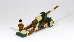 Canon de 145 L modèle 1916 St Chamond (Rebla) Tags: rebla lego wwii ww2 world war 2 ii french vehicles canon de 145 l modèle 1916 st chamond
