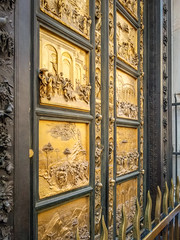 Gates of Paradise (ClaudiaRomanelli) Tags: baptistry bible door duomo florence gates italy paradise stories church relief antique religious gate ornament ancient entrance carve biblical landmark decoration detail baptistery story scene gold heritage old firenze religion worship sculpture vintage florentine itlay attraction artwork panel italian touristic classic golden bas renaissance masterpiece historic treasure