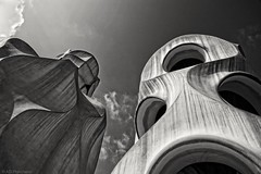 Do you believe in monsters? (Anthony P26) Tags: architecture barcelona category lapedrera nonbuilding places spain travel architecturephotography travelphotography gaudi casamila sculpture design art canon550d canon1585mm canon españa catalunya outdoor blackandwhite whiteandblack sky bw clouds