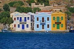 (yonca60) Tags: kastelorizo megisti meis houses sea seaside italianstyle casa village island beautifuldestinations greece greekislands colorfulhouses