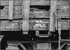 Boxcar Lettering (NoJuan) Tags: film 35mmfilm shootfilm nikon nikkormatel nikonfilmshooter 35mmf2nikkor railroad bw blackwhite blackandwhite kodakbw400cnfilm