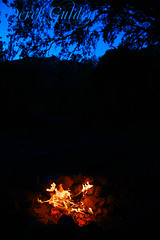twilight campfire (photography by Derek G) Tags: twilight sunset campfire fire camping backpacking hiking hills oak tree wilderness nature warmth warm flames