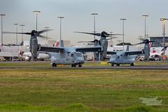 US Marines V-22 Osprey 07 YSSY-8389 (A u s s i e P o m m) Tags: v22 osprey v22osprey usmarines sydneyairport syd yssy mascot newsouthwales australia au