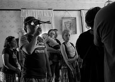 Family Fun, Kline Creek Farm. 24 (X70) (Mega-Magpie) Tags: fuji fujifilm x70 indoors people person boy girl family kline creek farm west chicago dupage il illinois usa america bw black white mono monochrome house room old