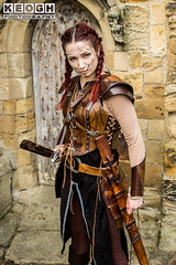 IMG_9474.jpg (Neil Keogh Photography) Tags: silver whitbygothweekend steampunk sword shoulderguards viking brown steampunkdress armguards red warrior goth armour blouse whitby top female woman whitbygothicweekendapril2017 facepaint black gothic trousers leather waistcoat white