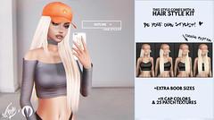 Hotline @ HF17 (liza.broono) Tags: sl second life hair fair foxy original mesh rigged unrigged villena catwa moonrabbit hotline phone fashion cap hat
