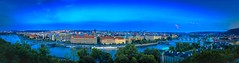 Panorama PRAG - blue hour (Klaus Mokosch) Tags: prag prague praha tschechien europe travel panorama landscape city cityscape moldau bluehour klausmokosch hdr wow