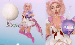 Post #1835 (şąşɧ =^^=) Tags: sailormoon pink white red blue luna boots cat dress cape moon star makeup nesh hud apploer dream decor gacha rare wings headband gold purple sparkle pinkatude secondlife fashion blog piercing feather wing ears bento collar choker rings tattoo
