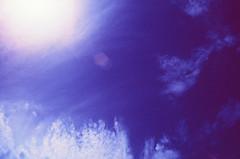 IR Sky (LeandroF) Tags: minoltasrt101 minolta 45mmf2rokkor film camera e6 chrome slidefilm fpp infrared infrachrome ir thedarkroomlab 35mm slr yellow12filter sky clouds sun flare
