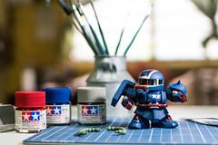 WIP: Zaku Patriot (Malasad0) Tags: bandai gunpla plamo plastic model zaku sd super deformed tamiya acrylic hand paint custom modification