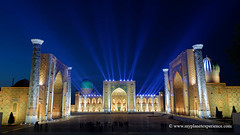 Uzbekistan (My Planet Experience) Tags: samarkand samarqand registan square ulughbeg tilyakori sherdor madrasah blue hour tamerlane timur unesco architecture silk road route central asia ouzbékistan oʻzbekiston узбекистан uz uzbekistan myplanetexperience wwwmyplanetexperiencecom