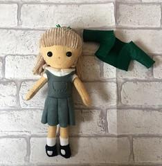 Lovely school buddy doll for a little girl who starts school in September