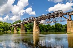 NS NYC Unit at Columbia, SC (i nikon) Tags: norfolk southern heritage unit nyc congaree river bridge columbia sc