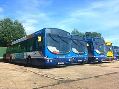 Solars in the Sun (North West Transport Photos) Tags: gillmoss 65707 65734 65739 28544 28546 28551 yn04gmg yn05wkc yn05wkh wrightsolar wrightbus wright scaniasolar scanial94ub scanial94 l94ub l94 solar scania stagecoachmerseysideandsouthlancashire stagecoachmerseyside stagecoach