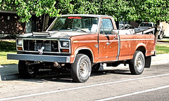 Has Redneck Written All Over It (Eyellgeteven) Tags: ford fomoco pickup pickuptruck truck f250 diesel 34ton decal decals redneck brown doll evildoll bumpersticker sticker stickers bumper heavyduty lightbar led ledlightbar auxiliarylighting 4x4 fourwheeldrive farmtruck worktruck loaded load junk beater beatup jalopy junker rust rusty rusted rustyandcrusty dilapidated decay dented dents dent classic vintage vehicle faded oxidized oxidation old rundown neglected ugly weird wtf unusual decoration strange survivor oddpanel odd eyellgeteven americanmade madeinusa baldtire