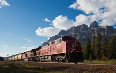 CP 8579 on Freight Castle Mountain Canadian Rockies 28 May 2014 (johndungate) Tags: canada rockies canadian pacific castlemountain railway trains longfreight