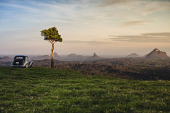At the drive-in (Pepyn Thysse) Tags: maleny glasshousemountains queensland australia sunset landscape