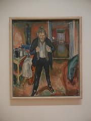 DSCN9145 _ Sleepless Night: Self-Portrait in Inner Turmoil, 1920, Edvard Munch, SFMOMA (Matthew Felix Sun) Tags: sanfrancisco sfmoma museum munch edvardmunch exhibition july 2017 betweentheclockandthebed