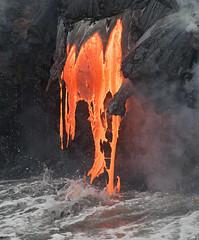 dripping lava (bluewavechris) Tags: hawaii bigisland lava ocean water sea creation pele scenic