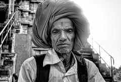 Kahurajo 5 B&N (rokobilbo) Tags: khajuraho india man people color customs street travel life blackandwhite