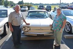 Classic Cars Corvair Club Hoyt's Restaurant Lexington, NC 20170710_4281 (Shane's Flying Disc Show) Tags: classiccars corvairclub davidson nc lexinton unsafeatanyspeed daredevils