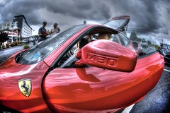 Tonemapped F430 door (Atodog) Tags: ferrarif430 f430 red ferrari door mirror automobile italian millersalehouse mtlaurel