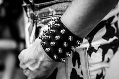 What A Stud (Sean Batten) Tags: london england unitedkingdom gb blackandwhite bw nikon d800 58mm city urban streetphotography street studs hand arm pride lgbt