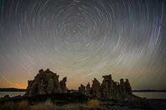Mono Trails (Kurt Lawson) Tags: ca california darkness fortress lake mono night northstar rotation star startrails starlight statepark trails tufa
