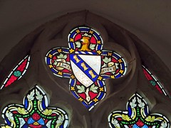 Stokesby Norfolk (jmc4 - Church Explorer) Tags: stokesby church norfolk stained glass window shield heraldry cockerel bend