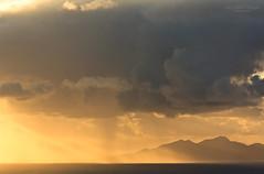 Morning glow (View from Santorini to Anafi island) (Rita Eberle-Wessner) Tags: santorini santorin insel island sea see meer ocean mittelmeer aegeasea ägäis sonnenaufgang sunrise clouds wolken regen rain sky himmel orange silhouette anafi anafiisland sonnenstrahlen sunrays sunbeams aegeanislands light licht