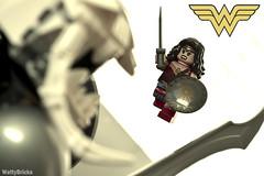 Ares vs. Diana (WattyBricks) Tags: lego dc comics superheroes ares diana prince wonder woman 76075 dceu minifigures