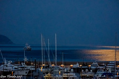 Rientrando al chiaro di luna (Back to harbour under moonlight) (Gian Floridia) Tags: ligure rapallo tigullio barche boats calmadimare chiara chiarodiluna harbour luna mare moon moonlight night notte porto reflexions returninghome riflessi sea serenità tranquillità