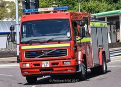 Defence Fire Service Volvo FL6 AU01AB (policest1100) Tags: defence fire service volvo fl6 au01ab manston