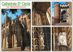 postcard - Albi, France 7 (Jassy-50) Tags: postcard albi france cathedralstececile unescoworldheritagesite unescoworldheritage unesco worldheritagesite worldheritage whs cathedral stececile saintcecile multiview